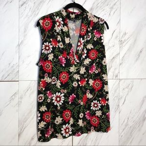 Jones New York Floral Sleeveless Jersey Top SZ 1X